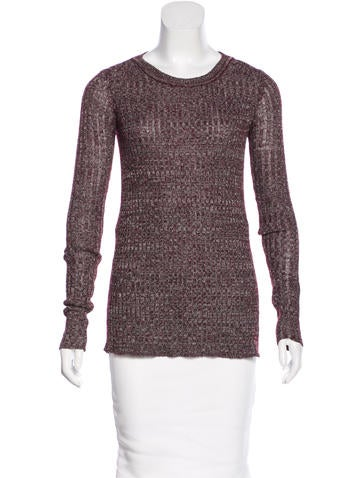 Isabel Marant Rib Knit Long Sleeve Top None
