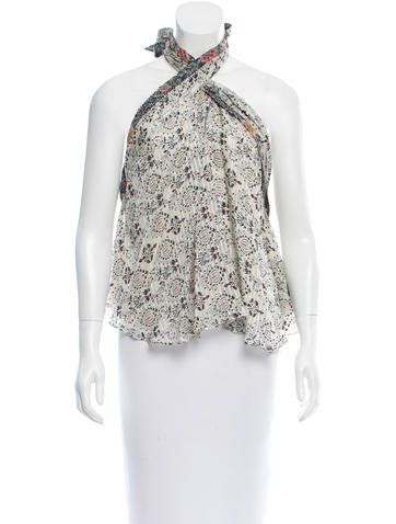 Isabel Marant Floral Print Silk Top None