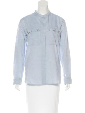 Isabel Marant Chambray Button-Up Top None