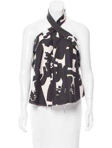 Isabel Marant Abstract print Halter Top None