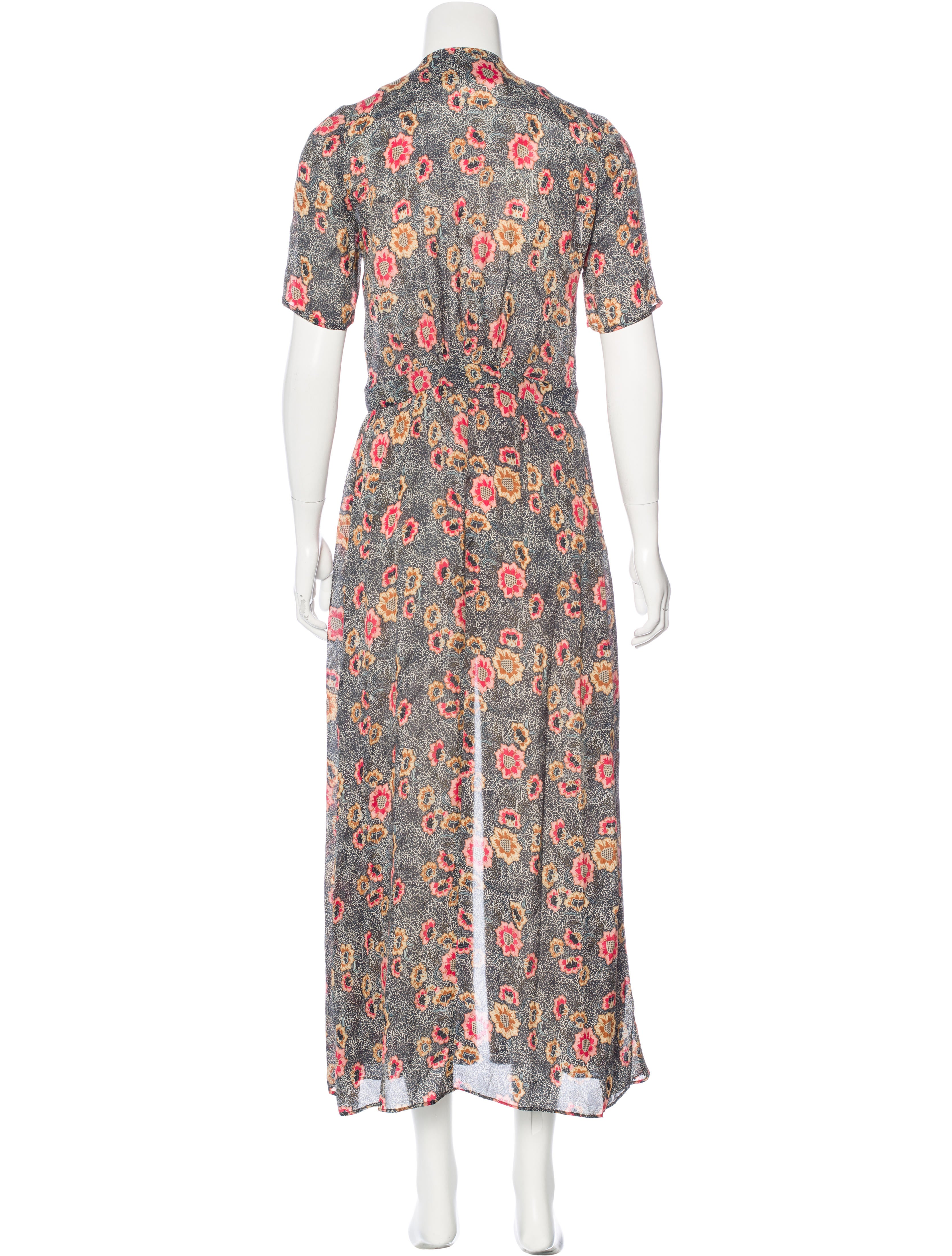 Isabel marant printed maxi dress clothing isa41248 for Isabel marant shirt dress