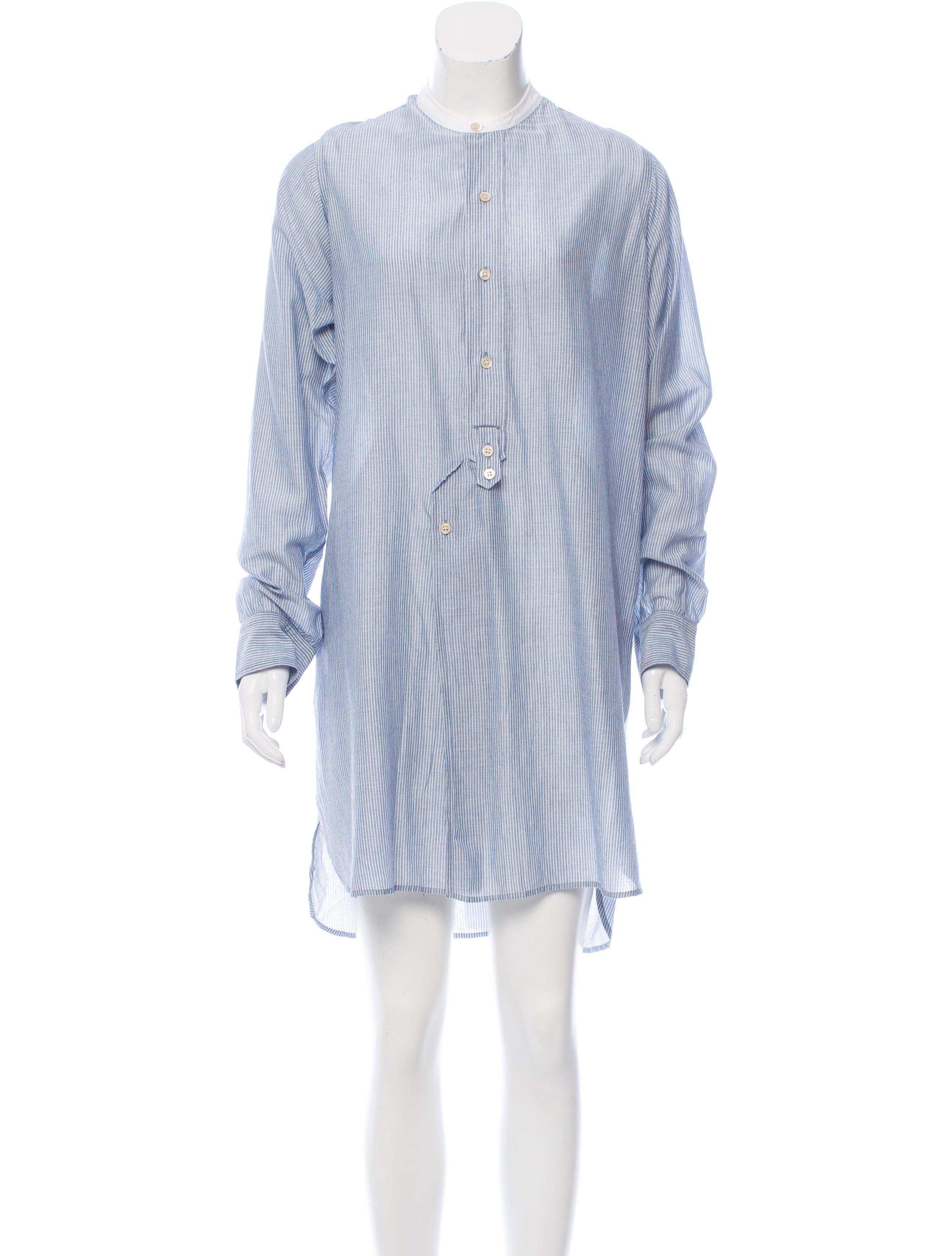 Isabel marant striped mini dress clothing isa41540 for Isabel marant shirt dress