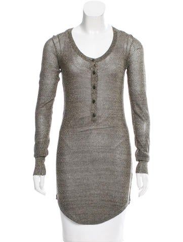 Isabel Marant Semi-Sheer Lurex Button-Up None