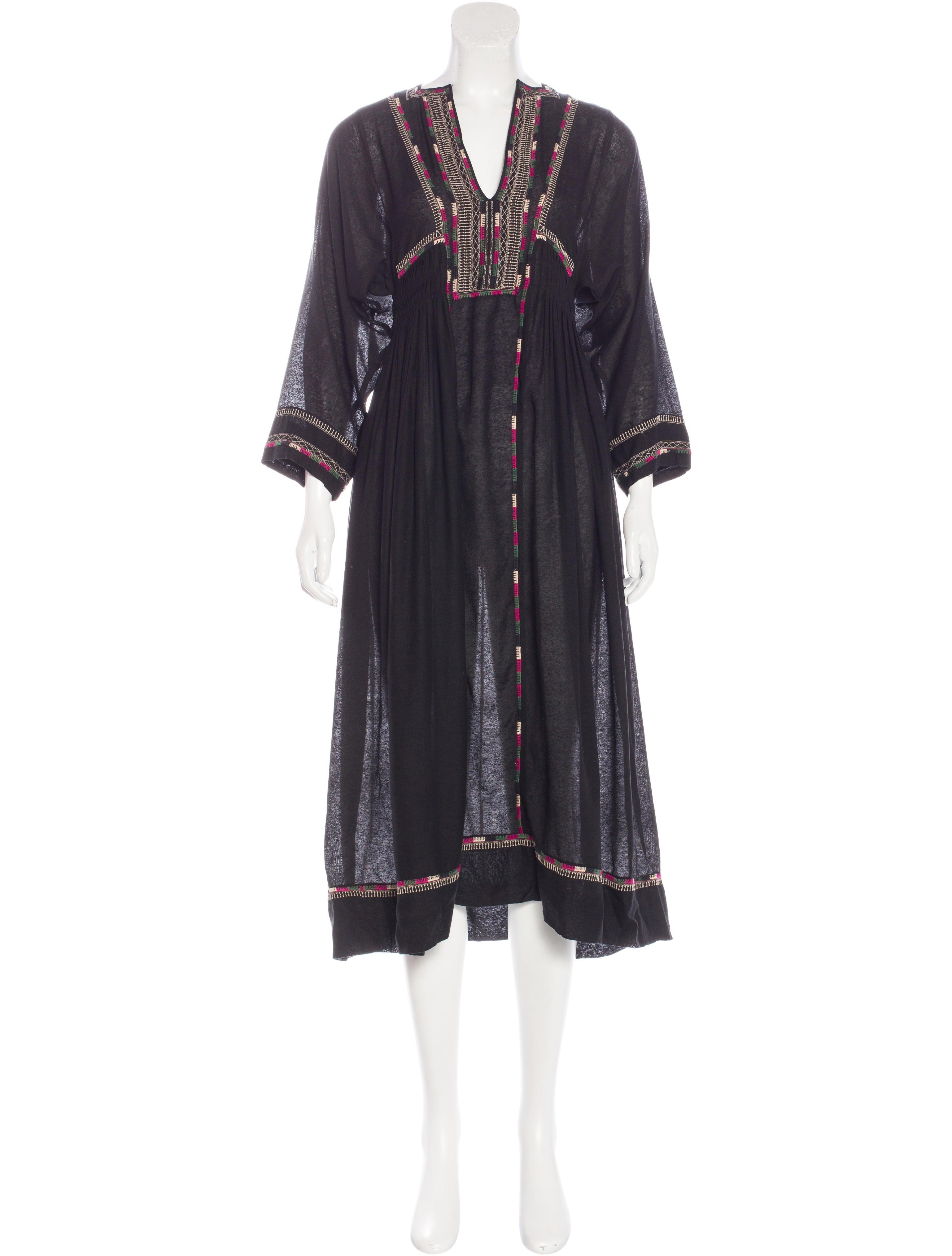 Isabel marant embroidered silk dress clothing isa41704 for Isabel marant shirt dress