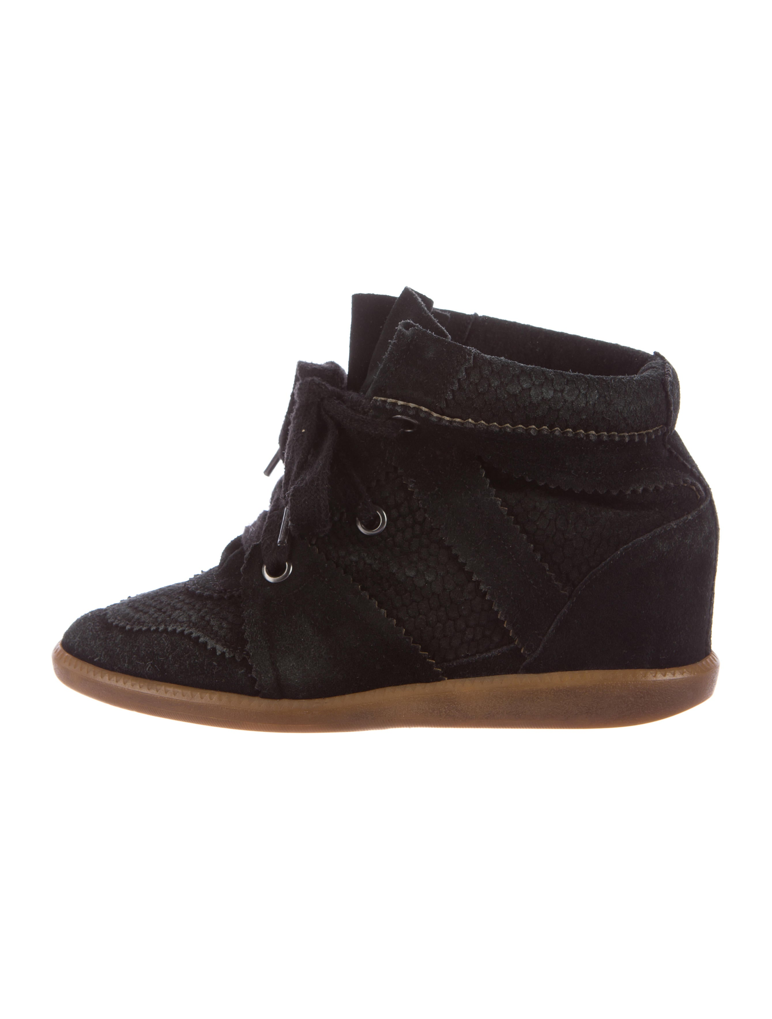 isabel marant bobby wedge sneakers shoes isa41710 the realreal. Black Bedroom Furniture Sets. Home Design Ideas