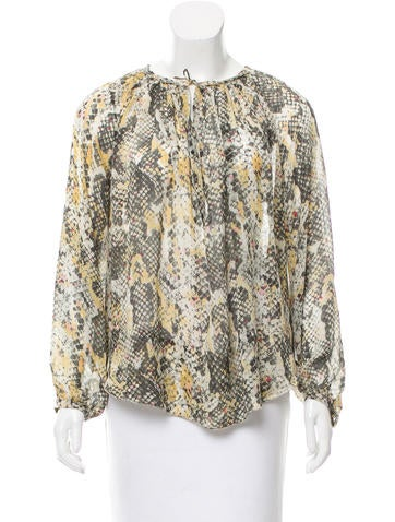 Isabel Marant Oversize Silk Top None