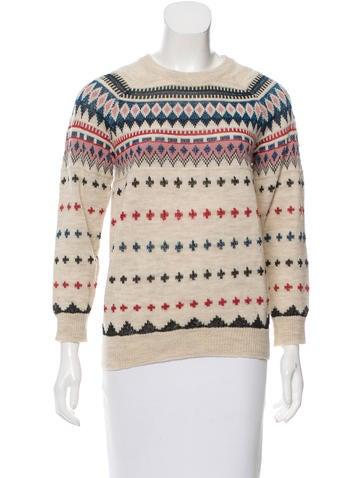 Isabel Marant Wool Fair Isle Sweater None