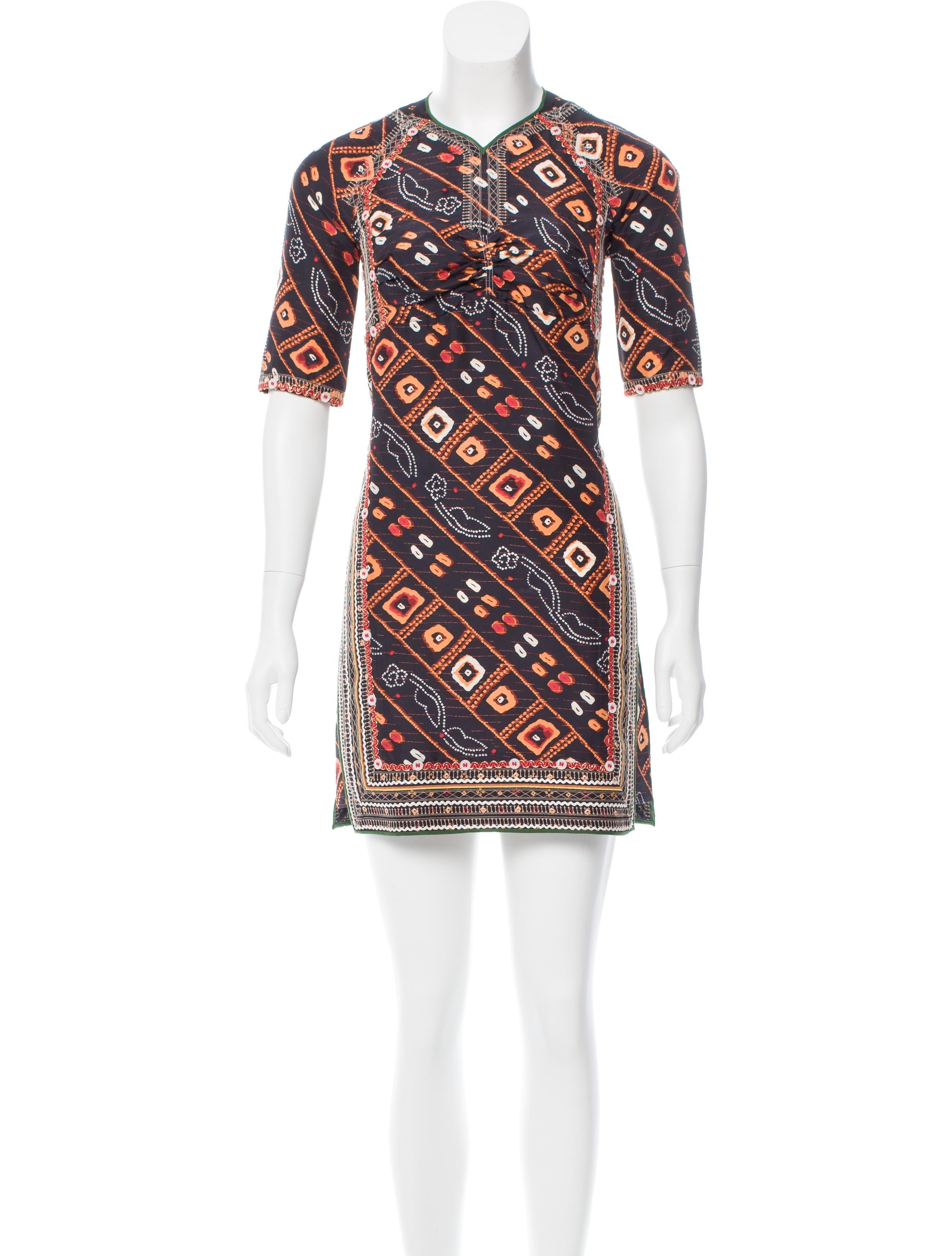 Isabel marant silk printed dress clothing isa41990 for Isabel marant shirt dress