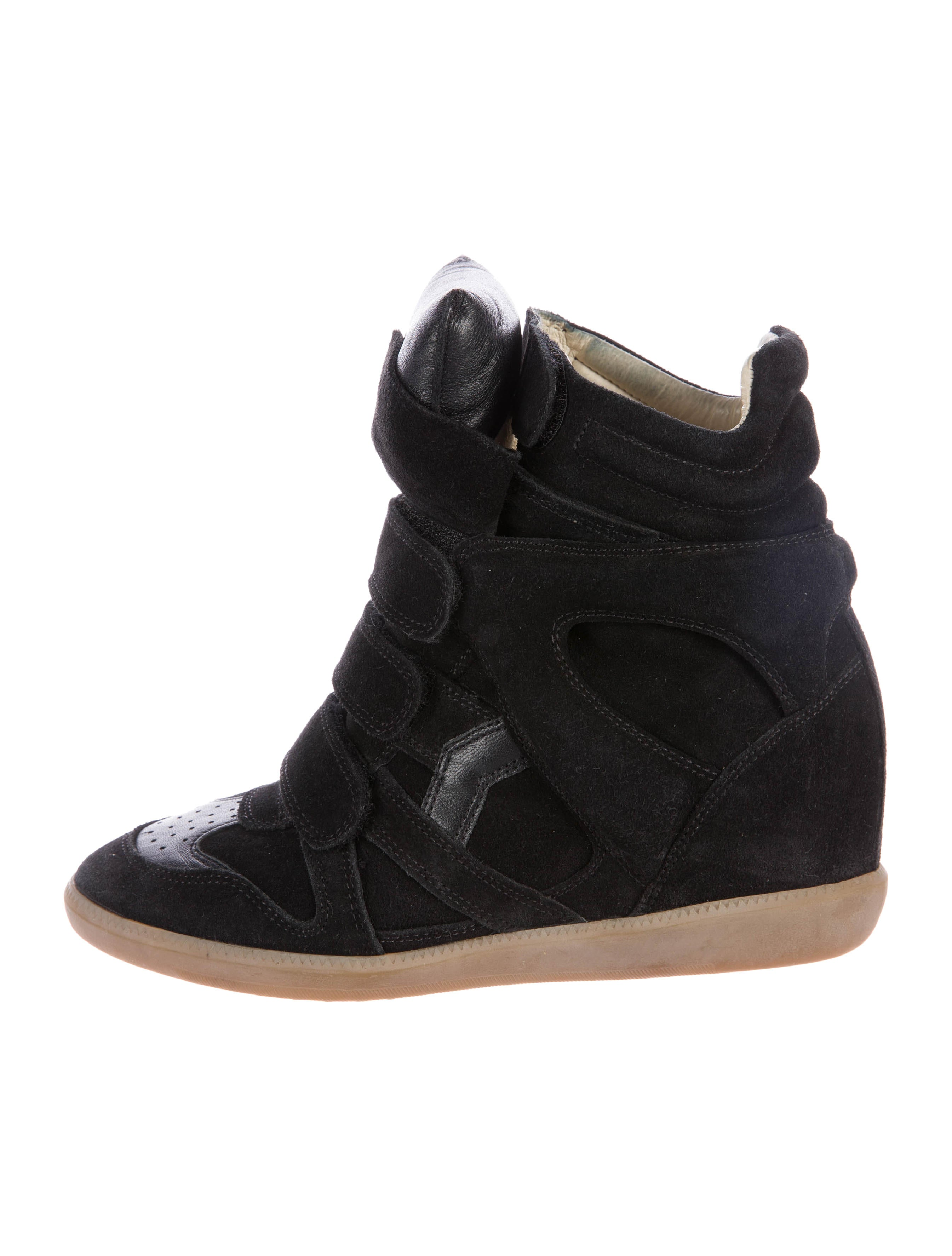 isabel marant beckett wedge sneakers shoes isa42149 the realreal. Black Bedroom Furniture Sets. Home Design Ideas