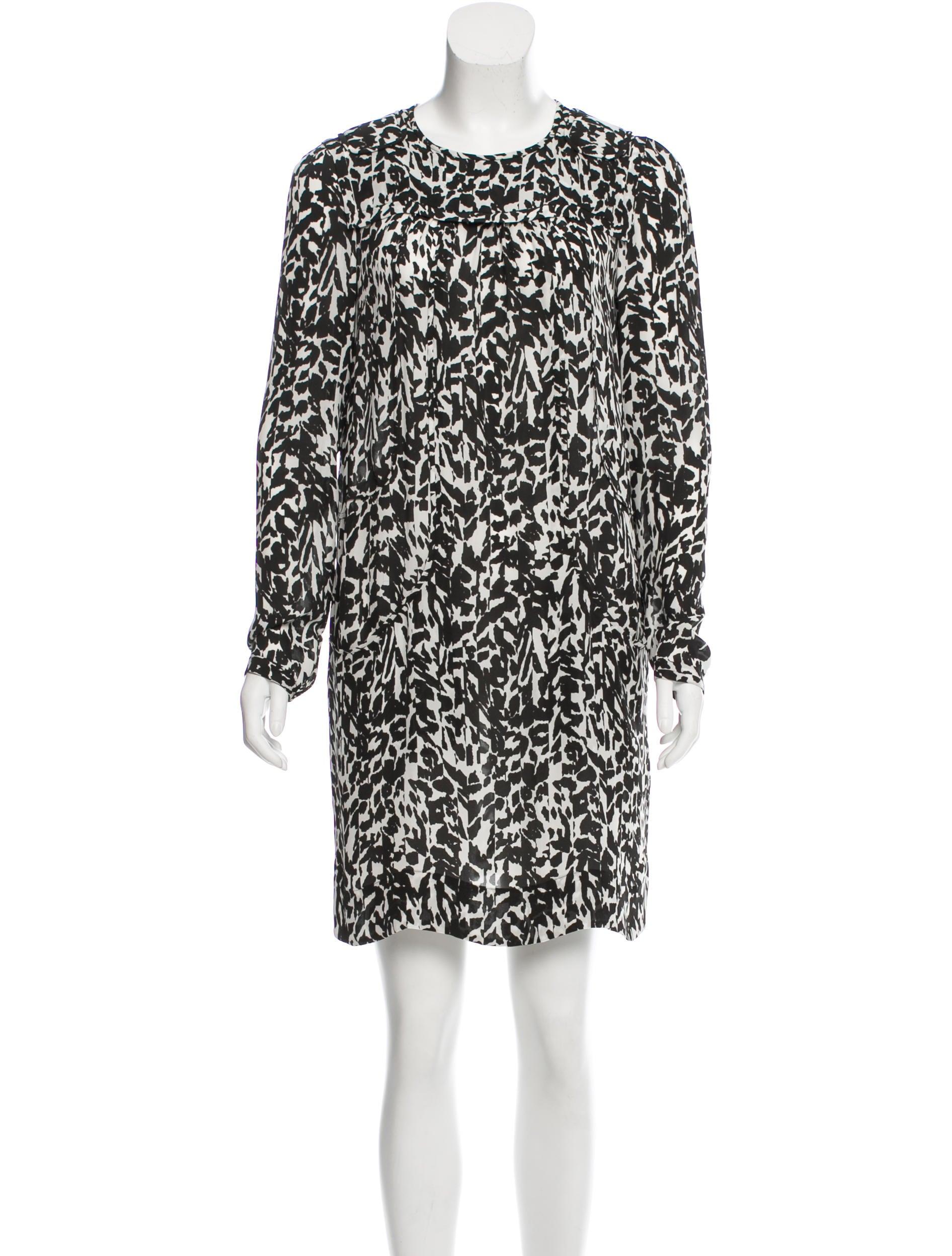 Isabel marant silk printed dress clothing isa42232 for Isabel marant shirt dress