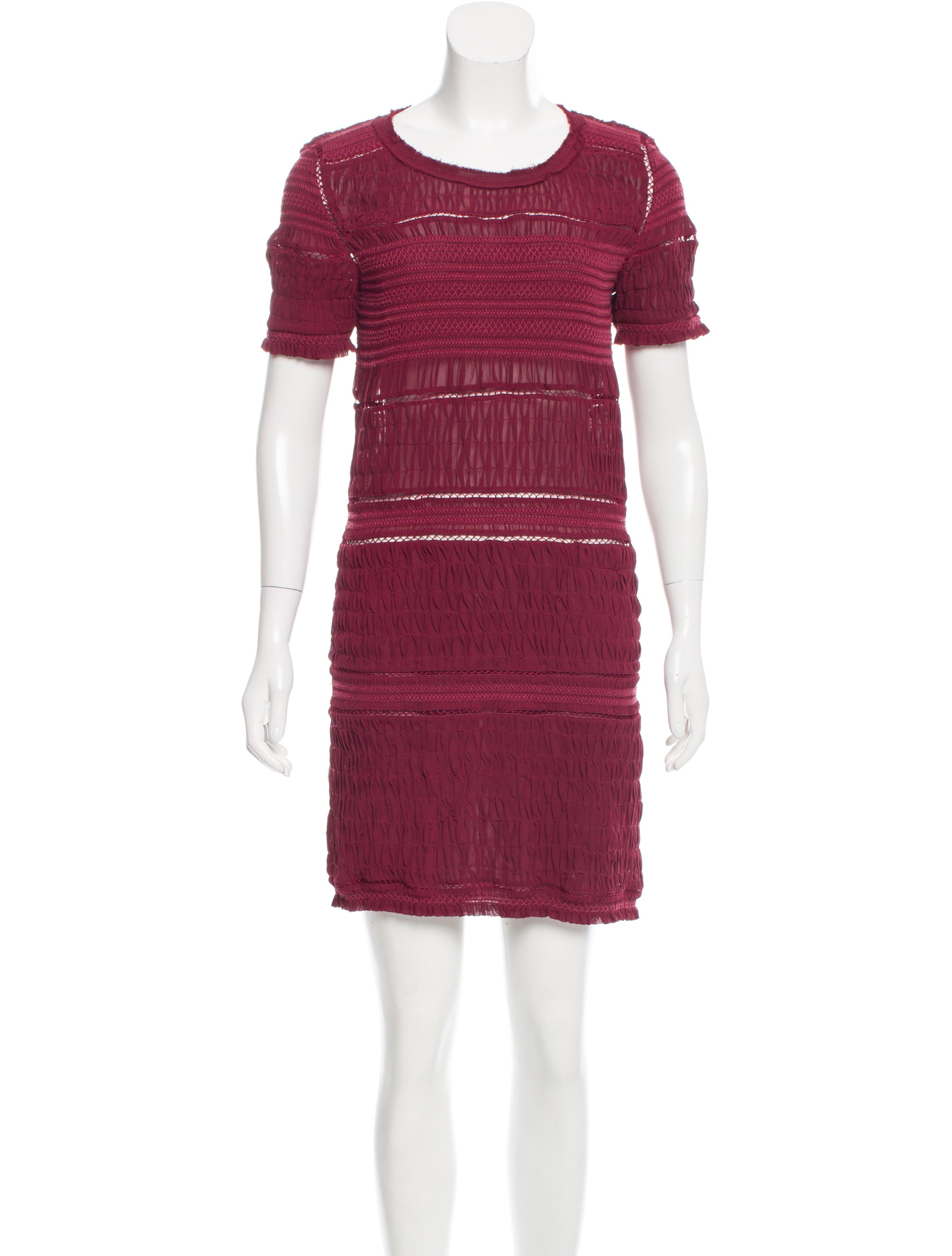 Isabel marant textured silk dress clothing isa42254 for Isabel marant shirt dress