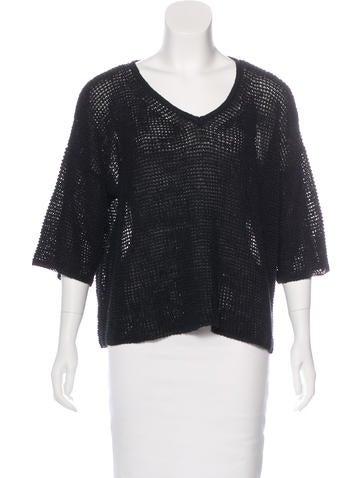Isabel Marant Open Knit V-Neck Sweater None