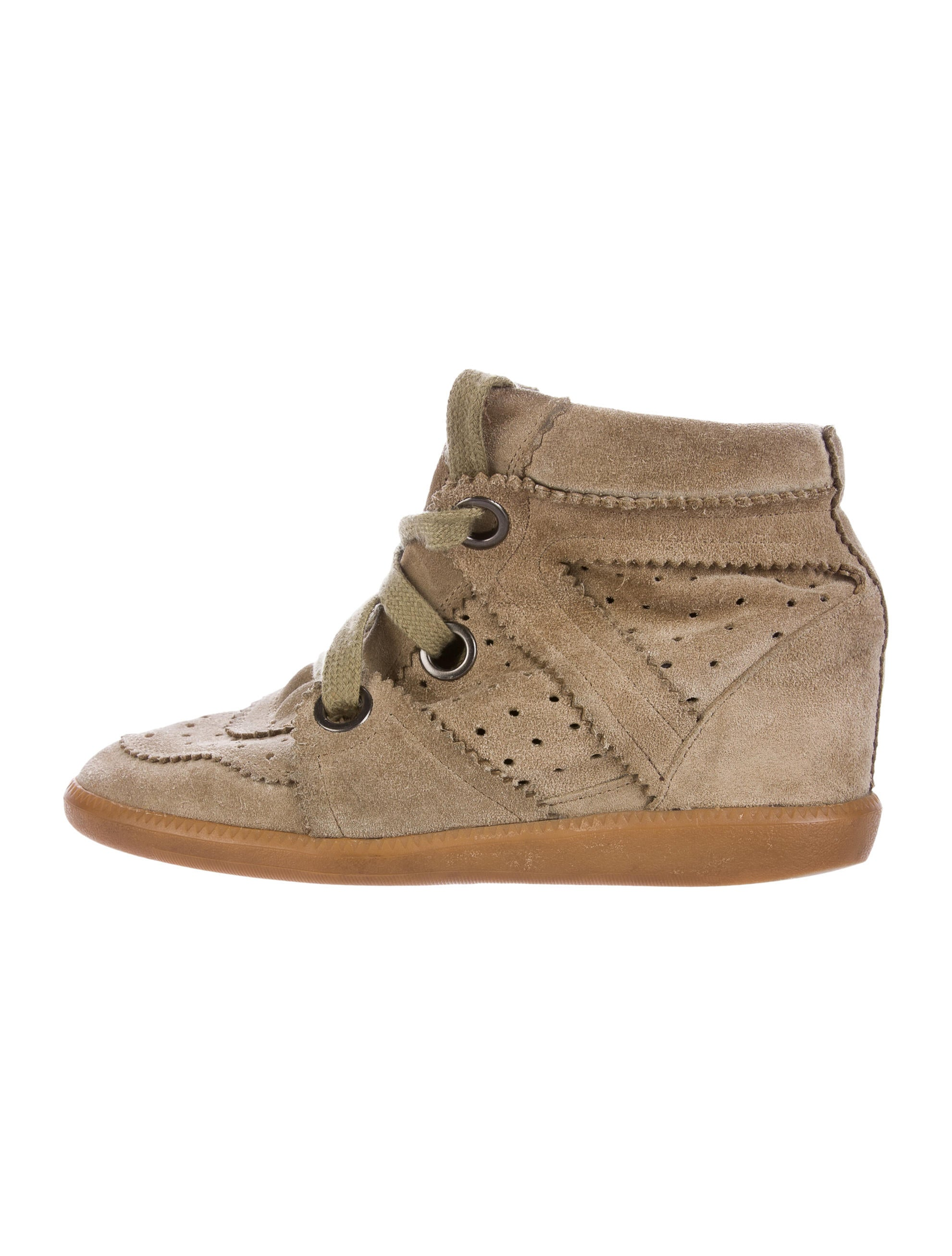 isabel marant bobby wedge sneakers shoes isa42356 the realreal. Black Bedroom Furniture Sets. Home Design Ideas