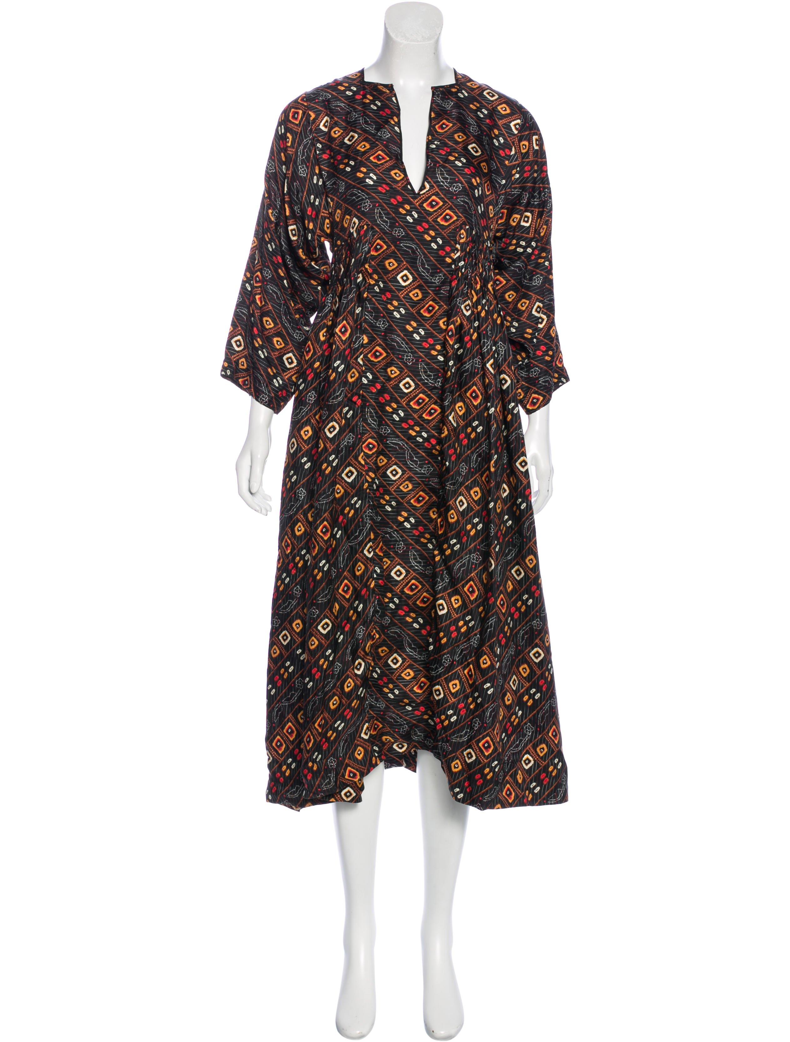 Isabel marant silk printed dress clothing isa42395 for Isabel marant shirt dress