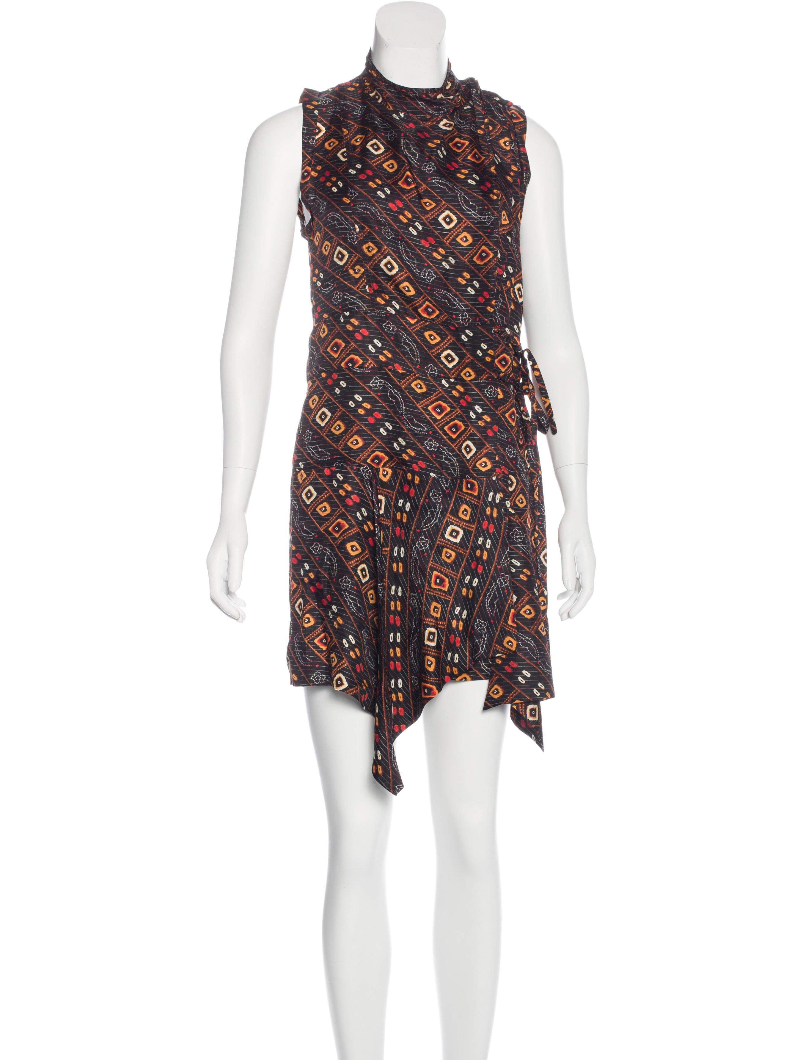 Isabel marant silk abstract print dress clothing for Isabel marant shirt dress