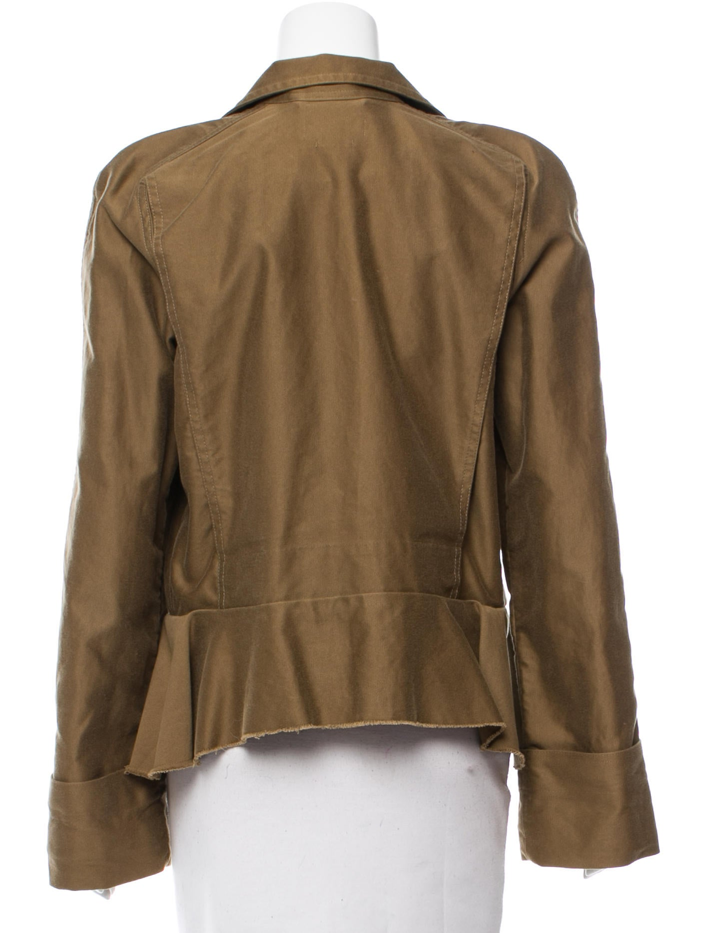 Isabel marant raw edge flounce jacket clothing for Raw edge t shirt women s