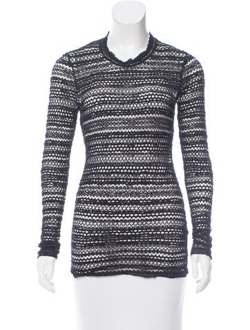 Isabel Marant Crocheted Long Sleeve Top None