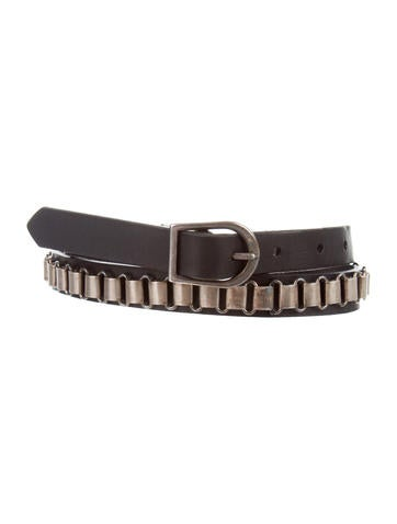 marant leather chain link belt accessories