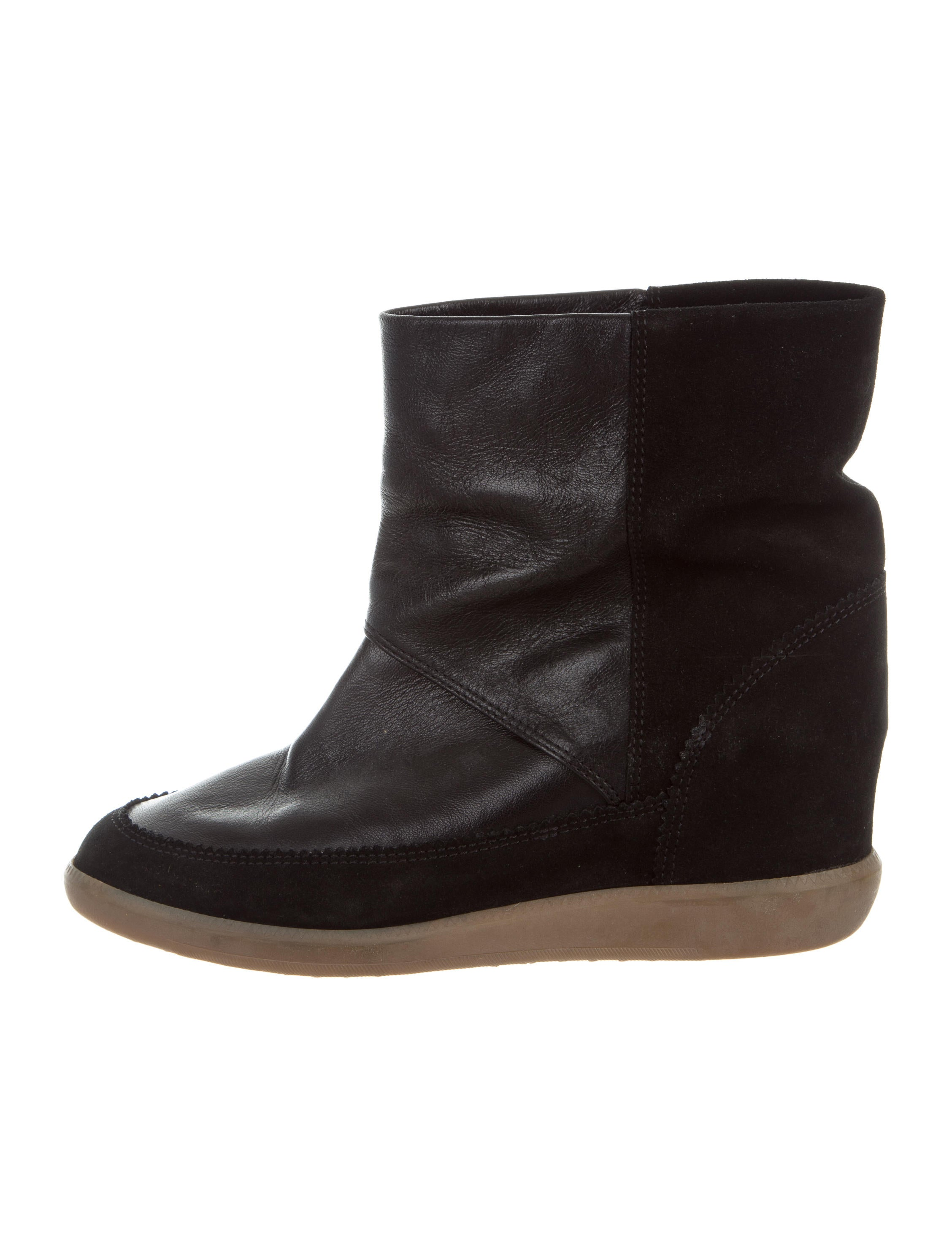 marant leather wedge ankle boots shoes isa42923