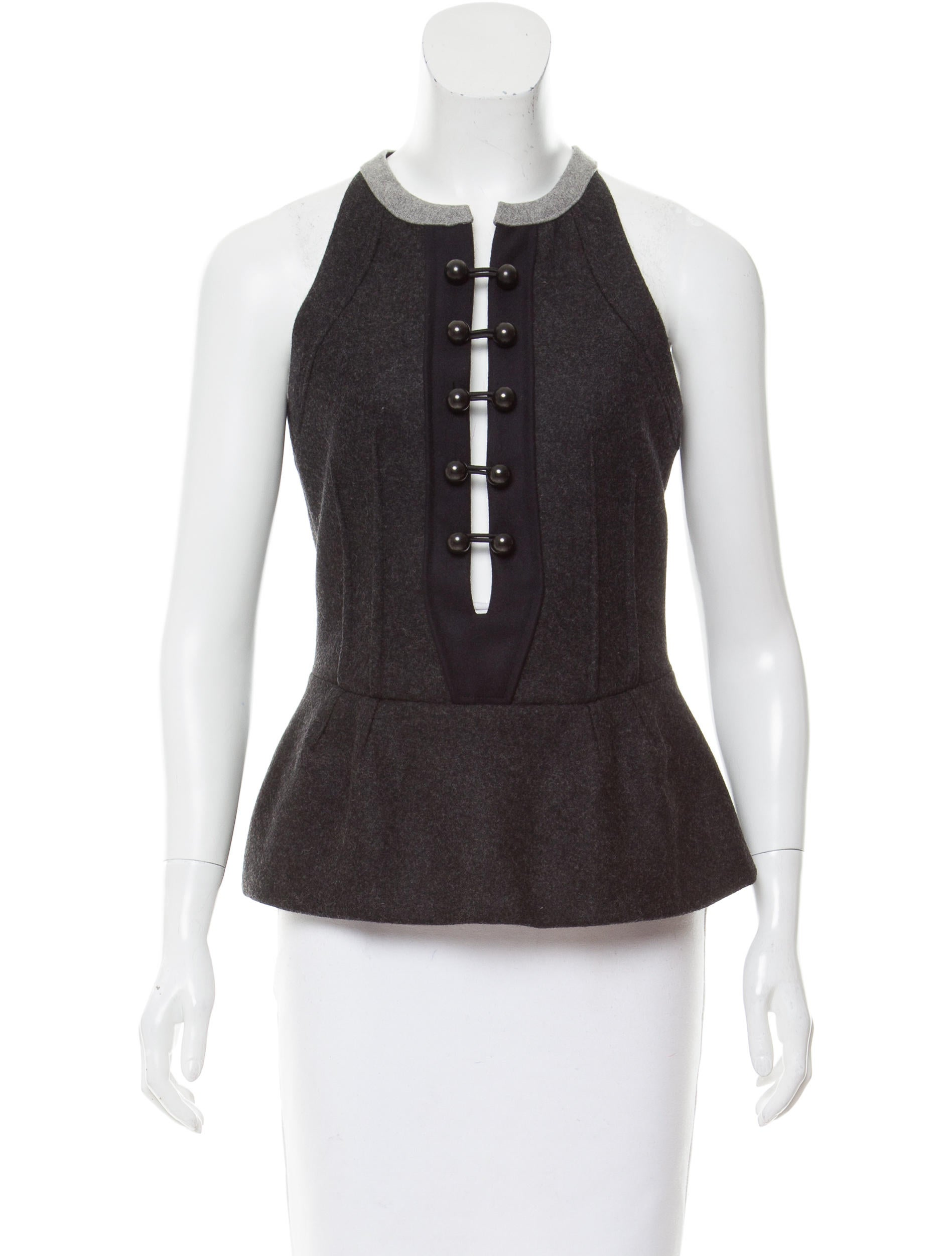 Isabel marant double breasted wool top clothing for Best wool shirt jackets