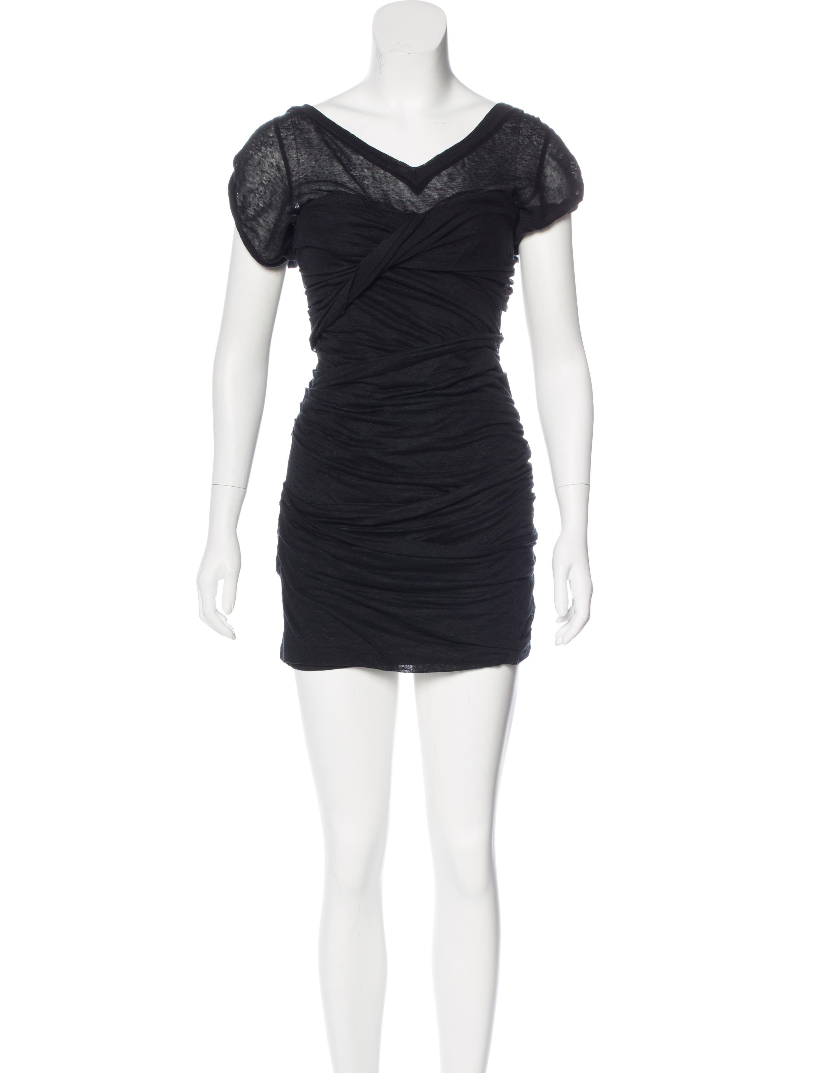 Isabel marant linen ruched dress clothing isa43016 for Isabel marant shirt dress