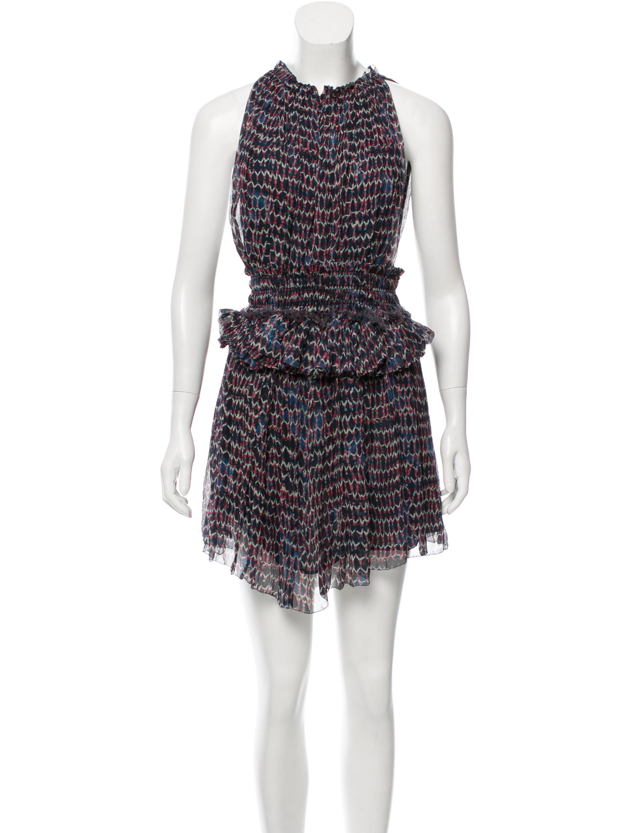 Isabel marant printed silk mini dress clothing for Isabel marant shirt dress