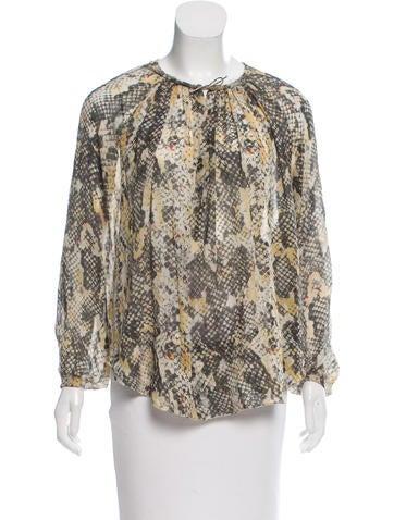 Isabel Marant Animal Print Silk Top None