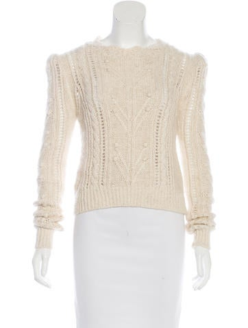 Isabel Marant Alpaca-Blend Cable Knit Sweater None