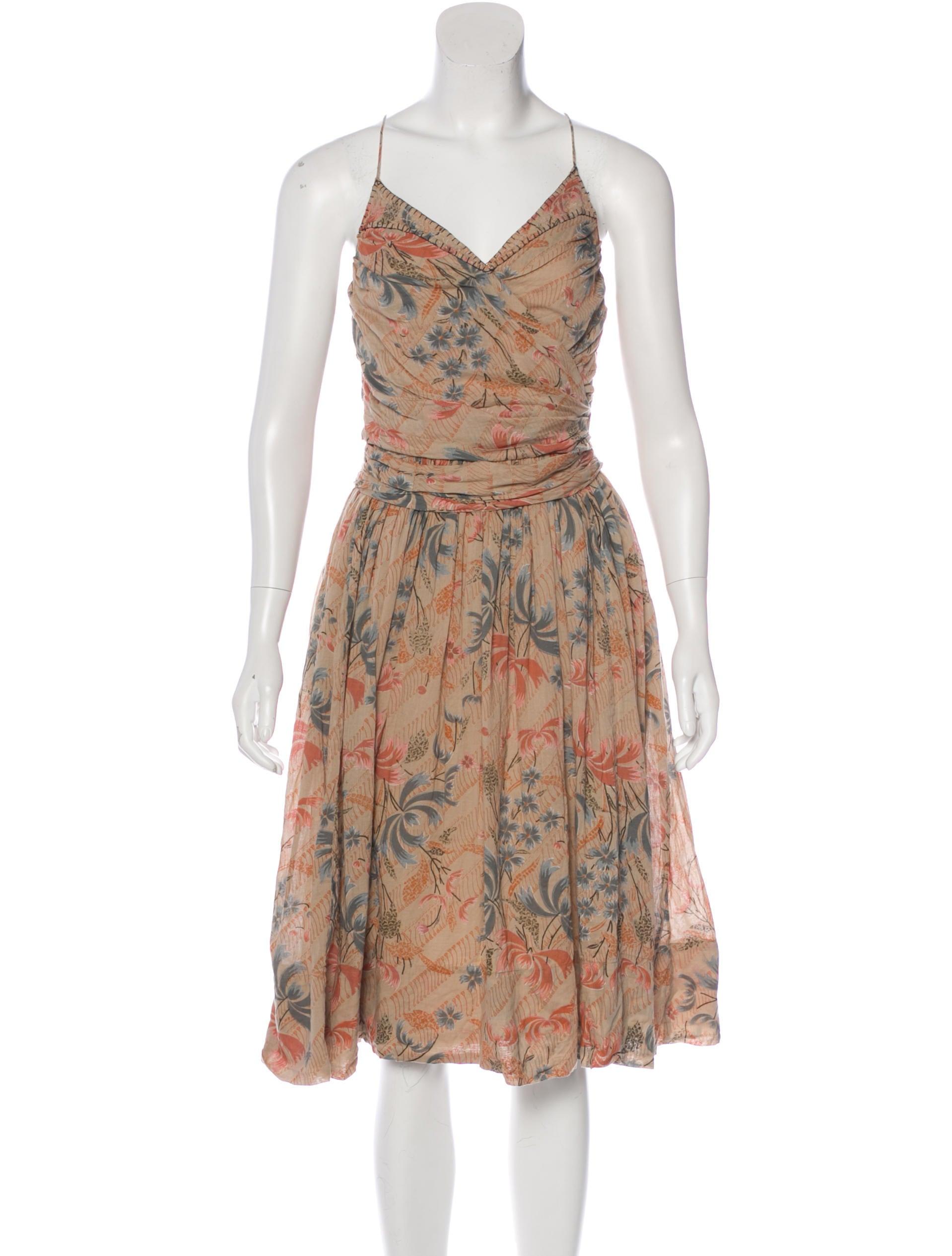 Isabel marant printed a line dress clothing isa43357 for Isabel marant shirt dress