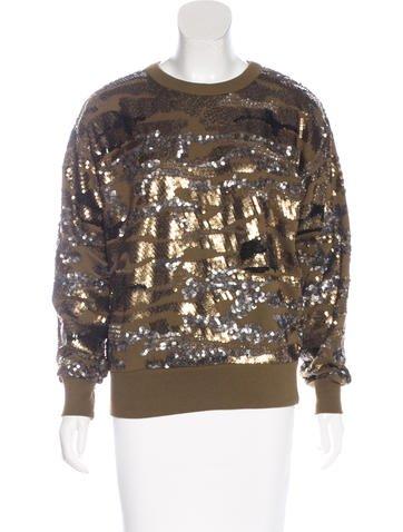 Isabel Marant Sequin Crew Neck Sweatshirt None