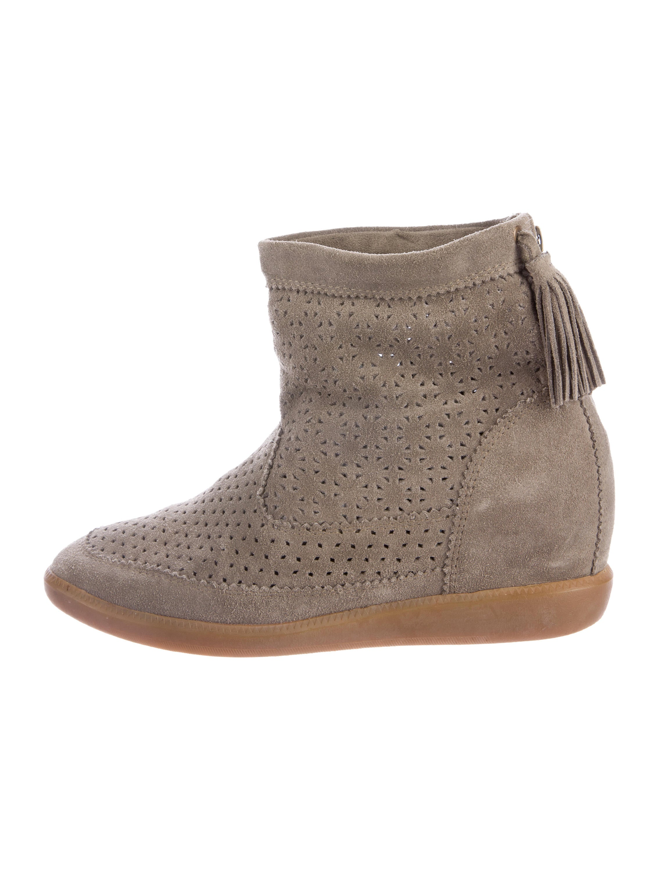 9c8e1d49caa1 Isabel Marant Beslay Wedge Booties - Shoes - ISA43381