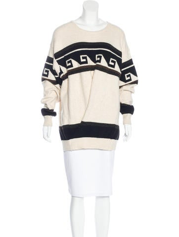 Isabel Marant Wave Pattern Oversize Sweater None