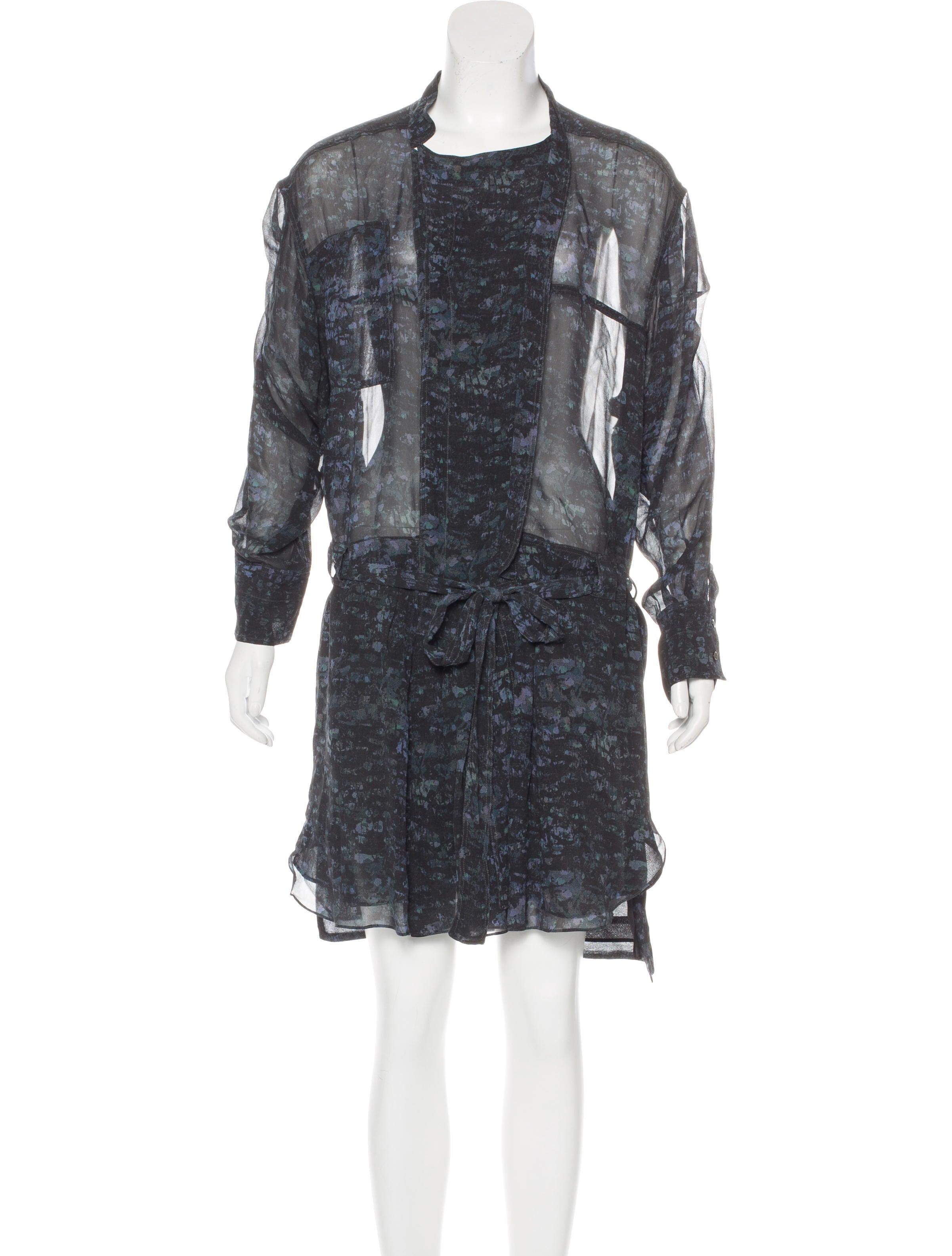 Isabel marant silk printed dress clothing isa43486 for Isabel marant shirt dress