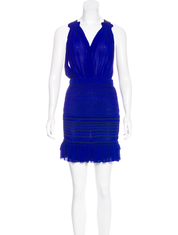 Isabel marant silk mini dress clothing isa43748 the for Isabel marant shirt dress