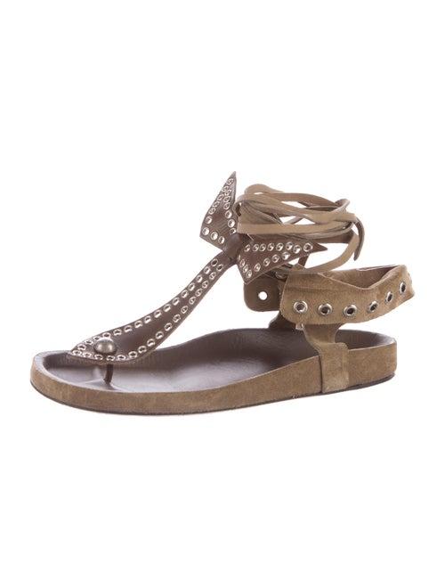 0fa2656c750e Isabel Marant Edris Grommet-Accented Sandals - Shoes - ISA43753 ...