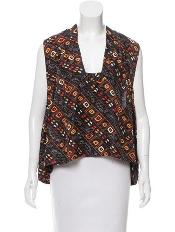 Isabel Marant Silk Tribal Printed Top None
