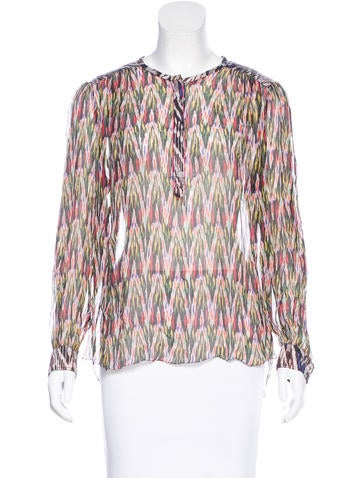 Isabel Marant Printed High-Low Top None