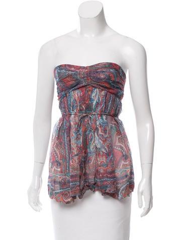 Isabel Marant Printed Silk Top None