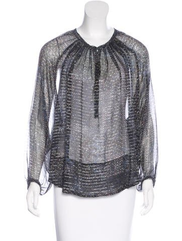 Isabel Marant Abstract Print Silk Blouse None