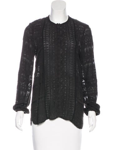 Isabel Marant Embroidered Long Sleeve Blouse None