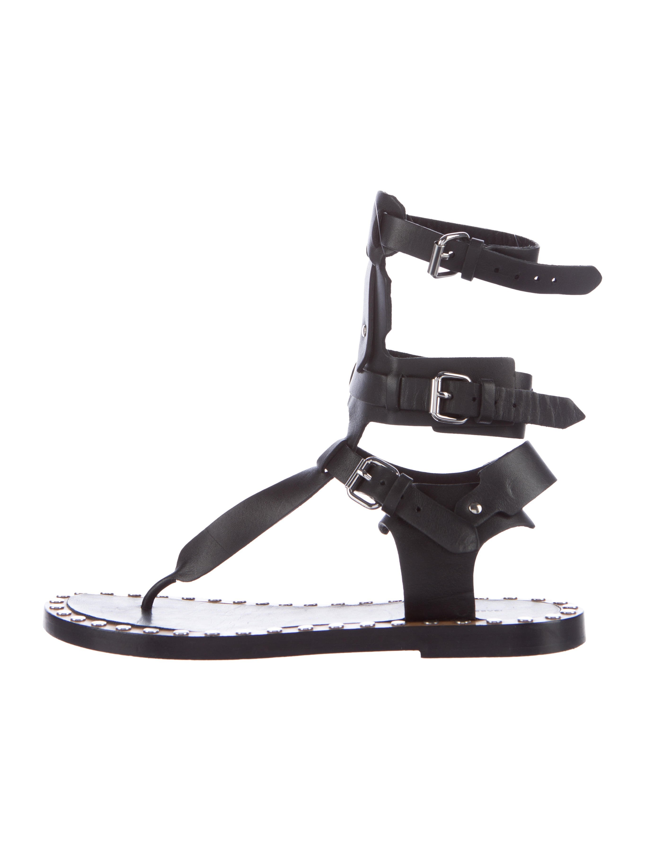 06cd93f14e17 Isabel Marant Jeepy Leather Sandals - Shoes - ISA44465