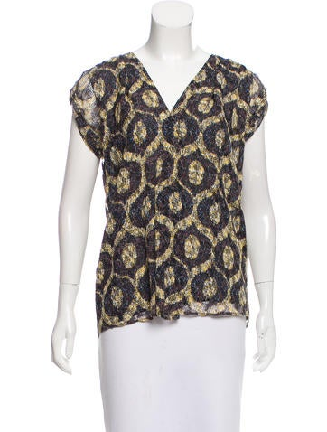 Isabel Marant Printed Sleeveless Top None