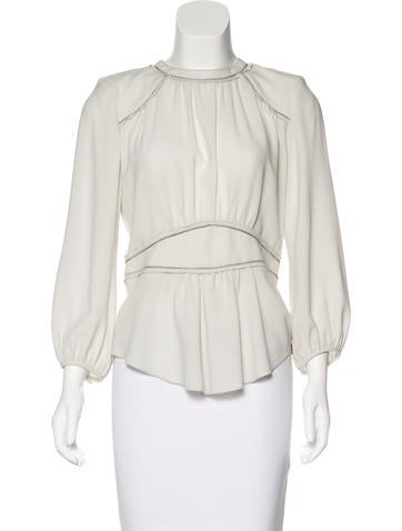 Isabel Marant Crepe Long Sleeve Top None