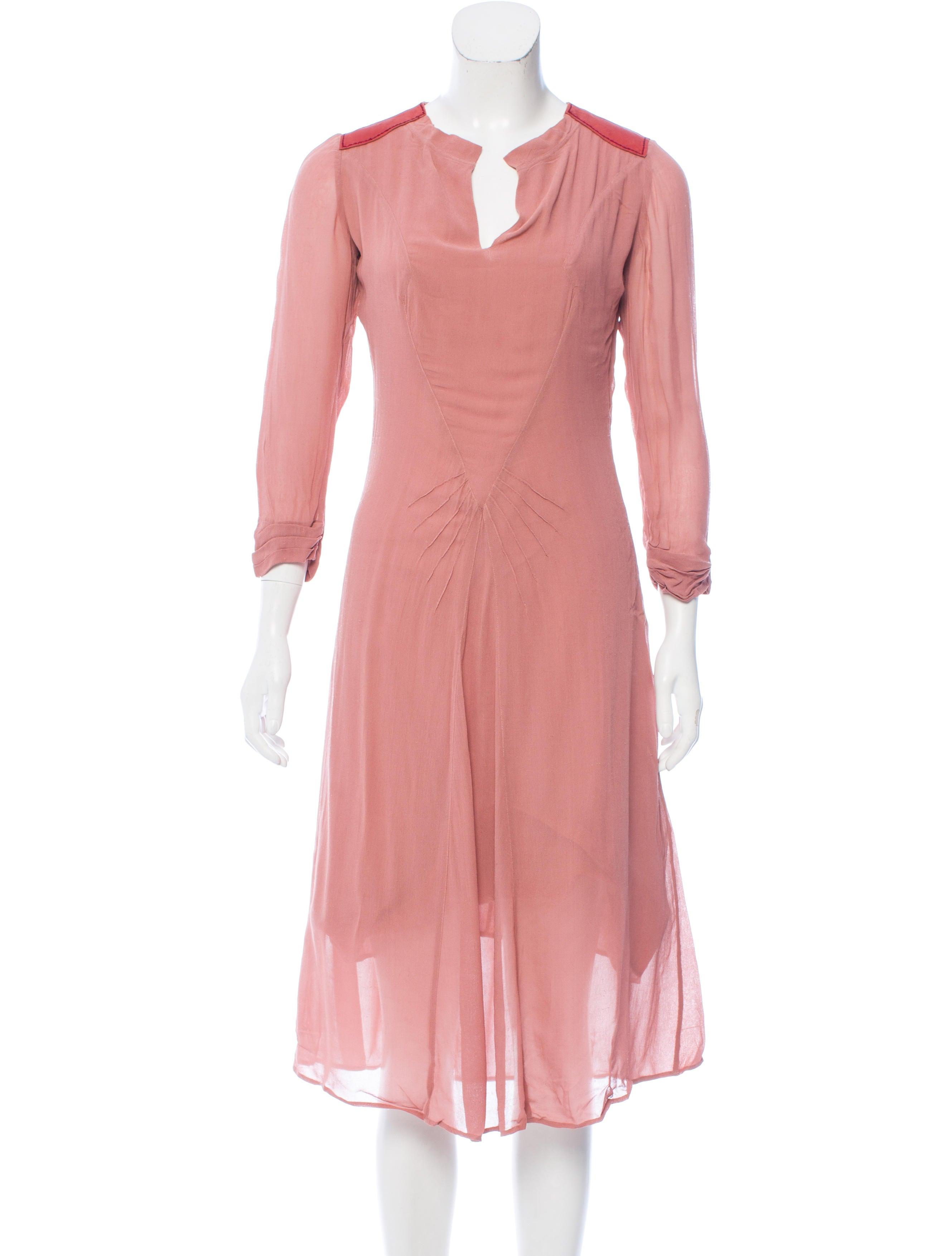 Isabel marant v neck midi dress clothing isa44546 for Isabel marant shirt dress