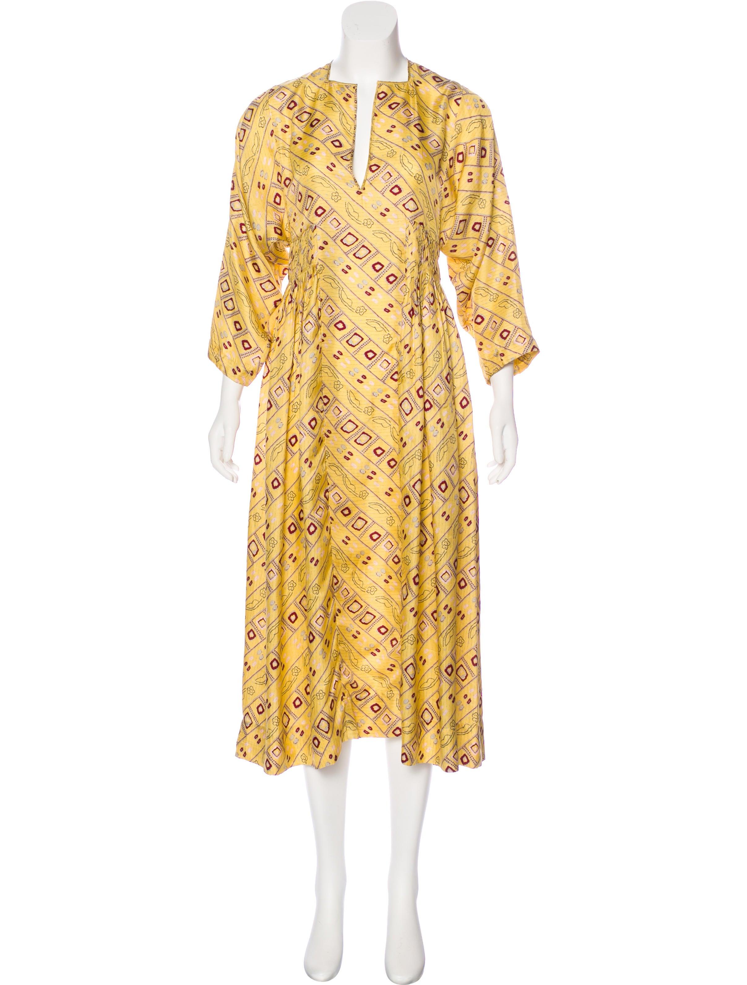 Isabel marant silk printed dress clothing isa44905 for Isabel marant shirt dress