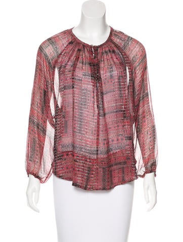 Isabel Marant Abstract Print Silk Top None