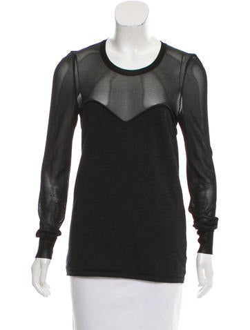 Isabel Marant Wool-Blend Long Sleeve Top None