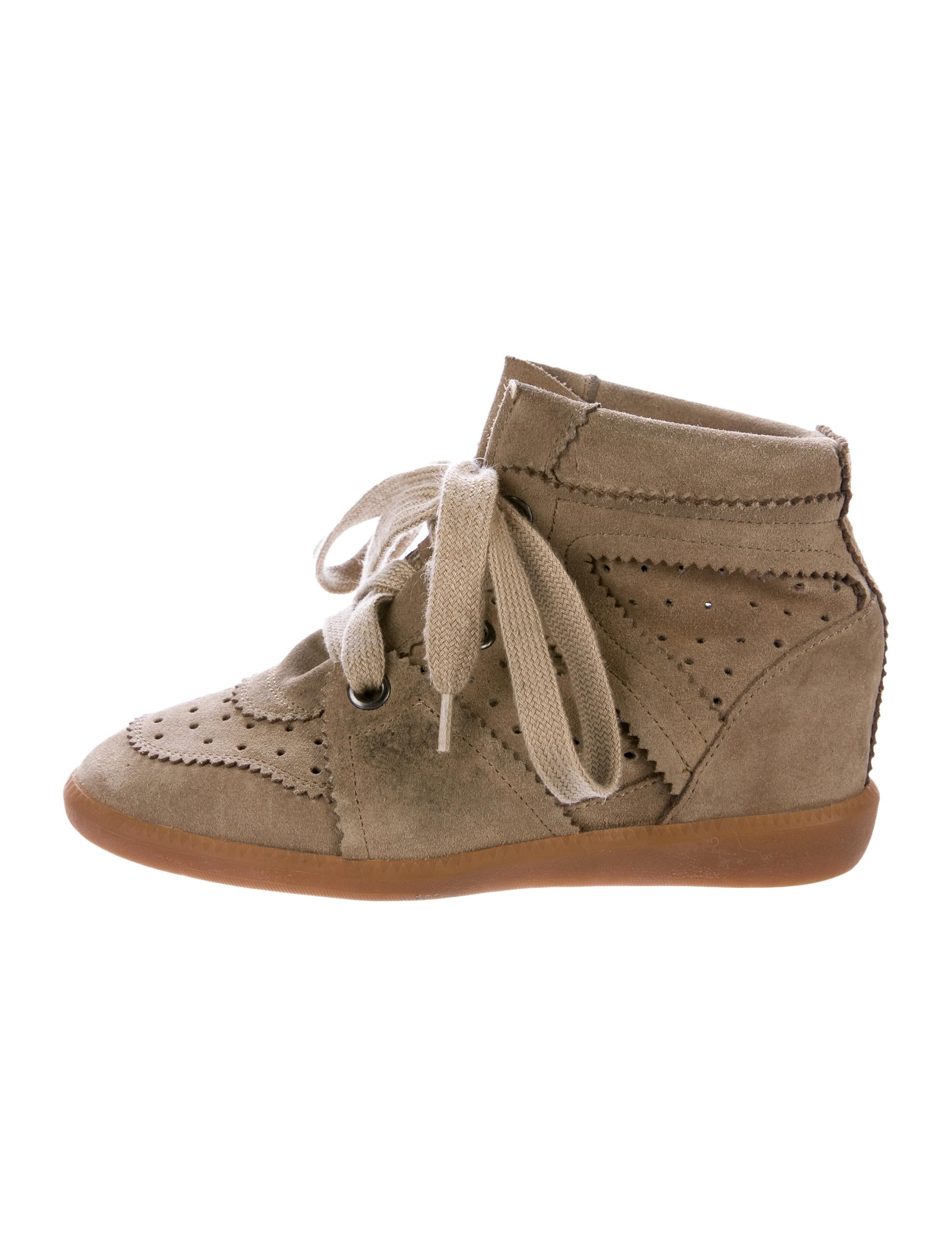 isabel marant bobby wedge sneakers shoes isa45274 the realreal. Black Bedroom Furniture Sets. Home Design Ideas