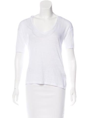 Isabel Marant Knit Short Sleeve Top None