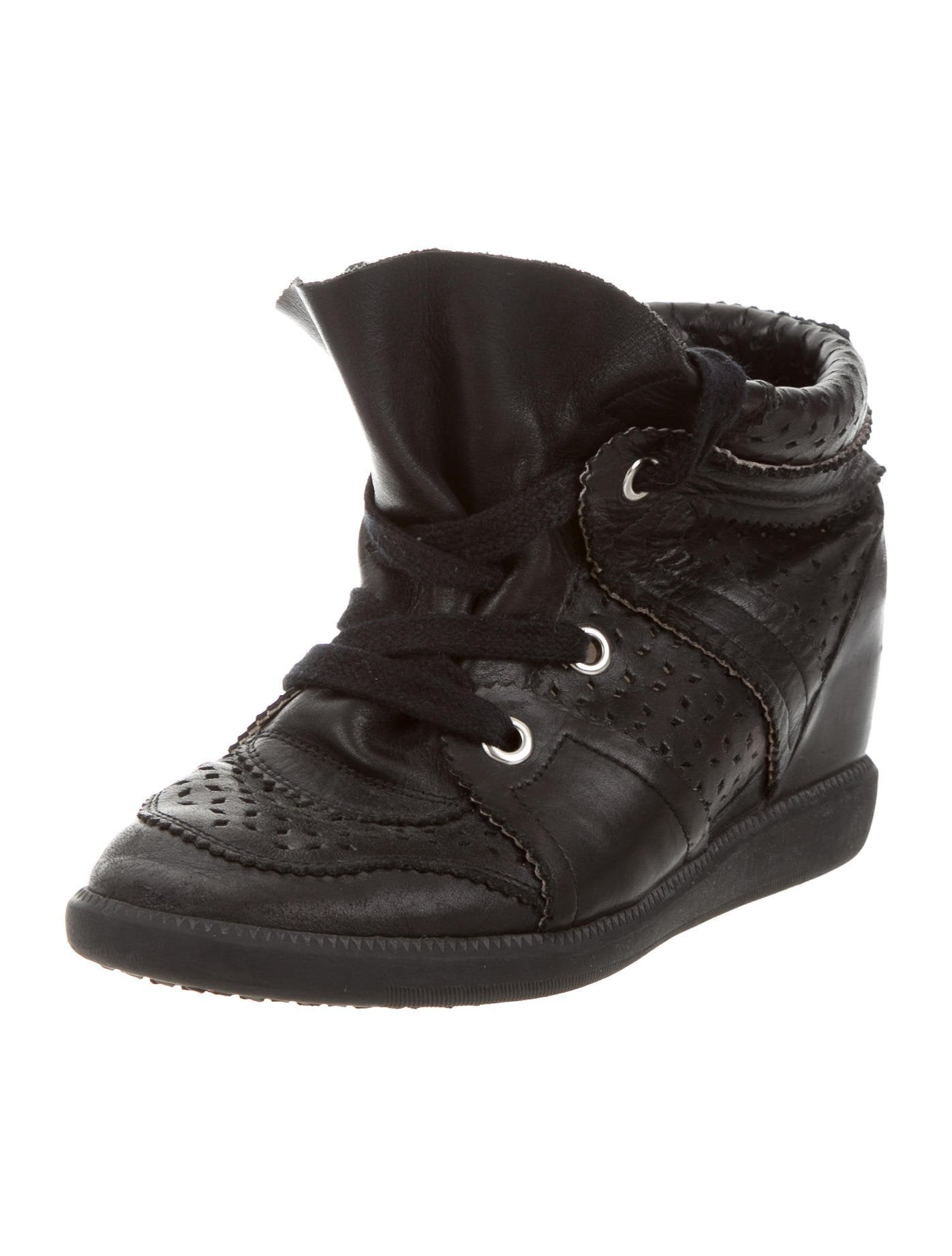 isabel marant bobby wedge sneakers shoes isa45419 the realreal. Black Bedroom Furniture Sets. Home Design Ideas